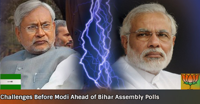 Challenges Before Modi Ahead of Bihar Assembly Polls