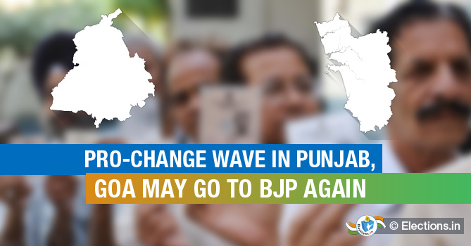 Pro-change wave in Punjab, Goa may go to BJP again