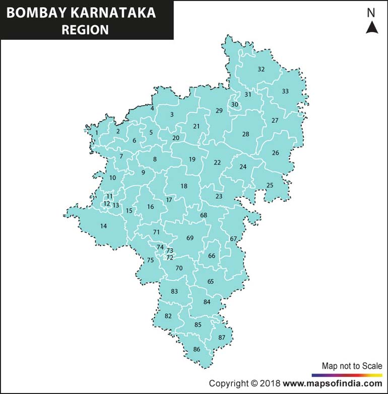 Bombay Karnataka Region Map